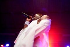 Gestreepte Katz (stadiumnaam van rapper Ojay Morgan) presteert bij Sonarfestival Stock Fotografie