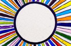Gestreepte multicolored marmeren vloer hoogste mening Royalty-vrije Stock Afbeelding