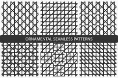 Gestreepte naadloze geometrische patronen Stock Foto