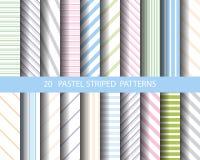 20 gestreepte patroonreeks vector illustratie