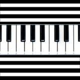 Gestreepte pianosamenvatting Stock Afbeeldingen
