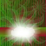 Gestreepte rode en groene kaart Royalty-vrije Stock Foto