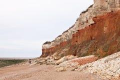 Gestreepte rotsen Stock Afbeelding