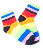 Gestreepte sokken Stock Afbeelding