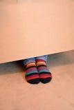 Gestreepte sokken stock afbeeldingen