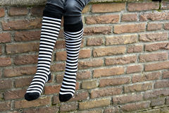 Gestreepte sokken royalty-vrije stock foto's