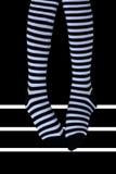 Gestreepte sokken royalty-vrije stock afbeeldingen