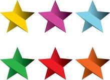 Gestreepte sterren Royalty-vrije Stock Fotografie