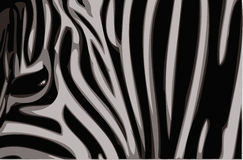 Gestreepte vectorillustratie. Stock Fotografie