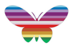 Gestreepte vlinder I Stock Fotografie