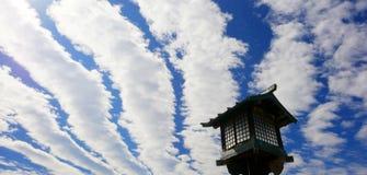 Gestreepte wolken in de hemel Stock Foto