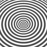 Gestreepte zwart-witte optische illusie vector illustratie