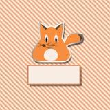 Gestreifte Abdeckung mit einem Fuchs für Ihr Design Lizenzfreies Stockfoto