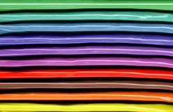 Gestreifte Beschaffenheit des farbigen Nagellacks stockfotos