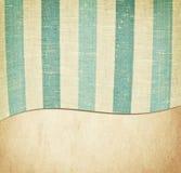 Gestreifte blaue und weiße Gewebebeschaffenheit auf Weinlese Lizenzfreie Stockfotografie