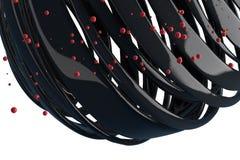 gestreifte dekorative Bälle 3D Lizenzfreies Stockbild