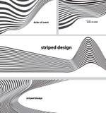 Gestreifte Designhintergründe Lizenzfreies Stockfoto