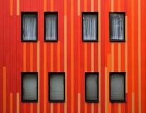 Gestreifte Fassade Lizenzfreies Stockbild