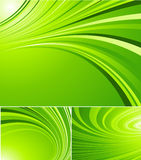 Gestreifte grüne Hintergründe Lizenzfreie Stockbilder