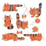 Gestreifte Katzen stock abbildung