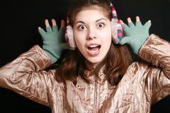 Gestreifte Kopfhörer. Stockbilder
