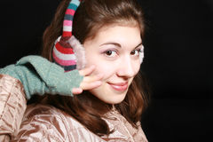 Gestreifte Kopfhörer. Lizenzfreie Stockbilder