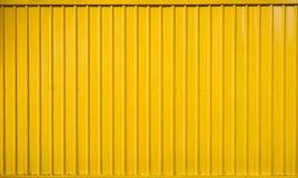 Gestreifte Linie des gelben Kastenbehälters gemasert Stockbilder