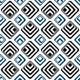 Gestreifte Quadrate nahtloses backgound Muster lizenzfreie abbildung