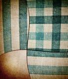 Gestreifte quadratische blaue und weiße Gewebebeschaffenheit an Lizenzfreies Stockbild
