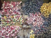 Gestreifte Süßigkeit stockbild