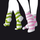 Gestreifte Socken lizenzfreie abbildung