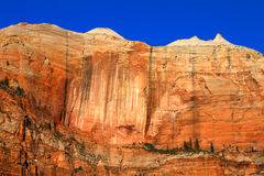Gestreifte Wand Zion National Park Stockfotos