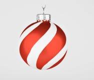 Gestreifte Weihnachtsverzierung Lizenzfreies Stockfoto