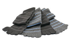 Gestreifte Zehe-Socken Stockfotos
