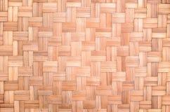 Gestreifter gesponnener Bambus Stockbilder