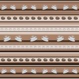 Gestreifter Hintergrund der Tasse Kaffees im braunen Spektrum Lizenzfreie Stockfotos