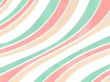 Gestreifter Hintergrund des Aquarells Stockfoto