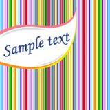 Gestreifter Hintergrund für Text. Vektorabbildung. Lizenzfreie Stockfotos