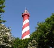 Gestreifter Leuchtturm Stockfotografie