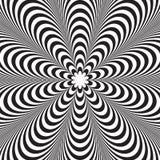Gestreifter Schwarzweiss-Hintergrund des abstrakten Vektors Optische Illusion stock abbildung