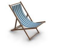 Gestreifter Strand-Stuhl lizenzfreie abbildung