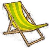 Gestreifter Strand-Stuhl Stockbilder