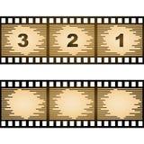 Gestreifter unbelegter Filmstreifen Lizenzfreie Stockbilder