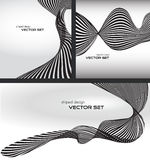 Gestreifter Wellenhintergrundsatz vektor abbildung