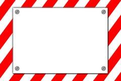 Gestreiftes Achtunggefahrenzeichen stock abbildung