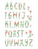 Gestreiftes Alphabet Stockfoto