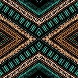 Gestreiftes helles handgemaltes nahtloses Muster Stockbilder