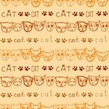 Gestreiftes Muster von Katzen ` Mündungen, in den gelben und orange Farben V Stockfoto