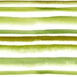 Gestreiftes nahtloses Muster des Aquarells Stockfotografie