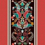 Gestreiftes nahtloses Muster Version ENV-8 Bunte dekorative Grenze Dekorative Verzierung Lizenzfreies Stockbild